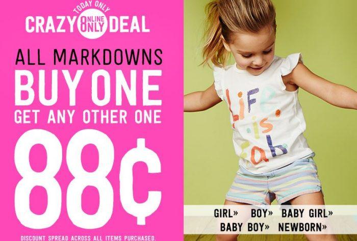 crazy 8 markdowns buy 1 get 1 88