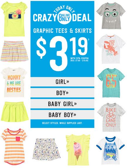 crazy 8 shirts and skirts