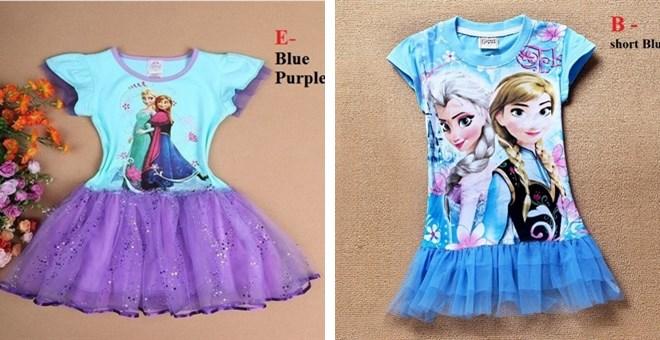 frozen inspired girls dresses