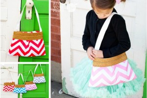 girls chevron purse