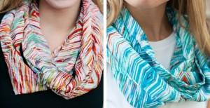 ikat infinity scarves