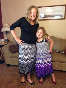 mom and daughter skirts