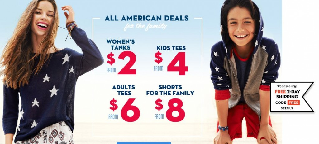 old navy free shipping sale