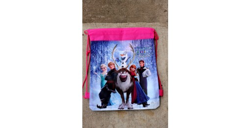 pink frozen backpack