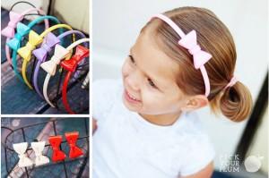plastic bow headbands and hair clips