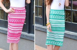 printed pencil skirts