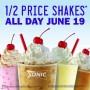 sonic summer solstice half price shakes