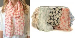 spring polka dot scarves