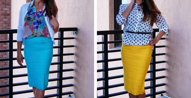 textured pencil skirts