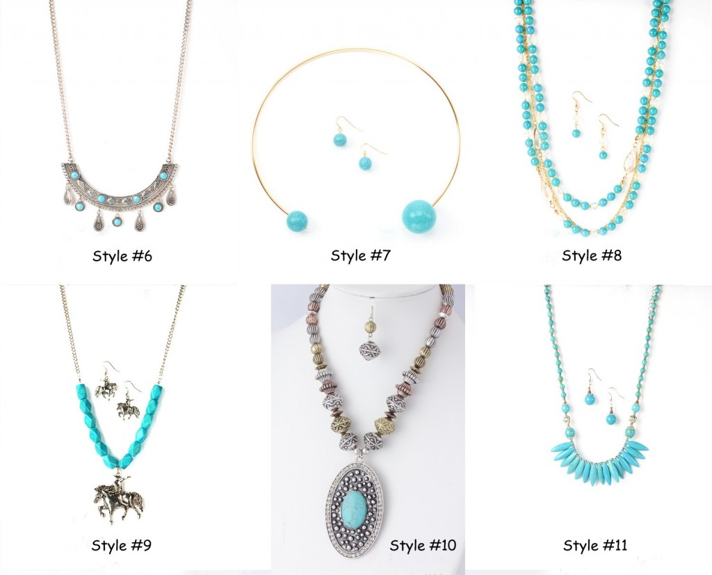 turquoise statement necklaces group 2