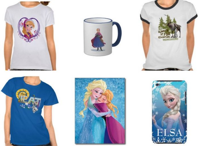 zazzle frozen items