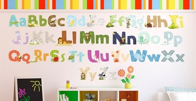 Animal Alphabet Wall Decal Stickers