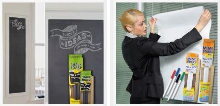 Captcontact adhesive memo board peel & stick rolls dry erase or chalkboard