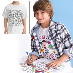 Colorable Disney Winnie-the-Pooh Youth Color in T-Shirt