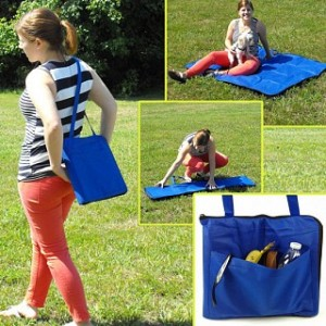 Folding Carry-Along Zippered Blanket Bag