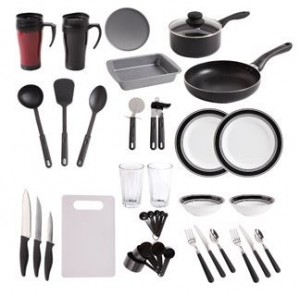 Gibson Home Dorm Kitchen 38-Piece Kitchen Combo Set for $29! – Utah ...