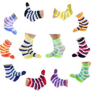 Juliet Ankle Length Women's Striped Toe Socks