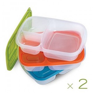 Kitchen Additions 6-Piece Bento Box Container Set with Lids