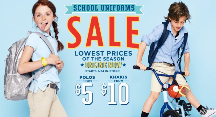 Old navy school uniform sale online now polos 5 for Old navy school shirts