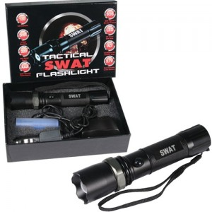 SWAT BW8202 XM-L T6 3W CREE 120 Lumens LED Flashlight - 5000mA Battery+charger