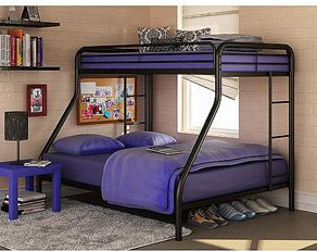 Twin Over Full Metal Bunk Bed Twin Metal Bunk Bed for $159 (Reg $189.98)! *White or Black*