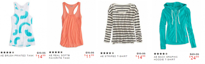 american eagle womens clearance American Eagle!  20% off + 50% off = Super Hot Deals!  Tops from $4 and MORE!