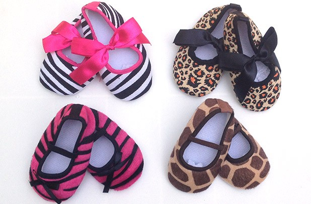 animal print baby shoes