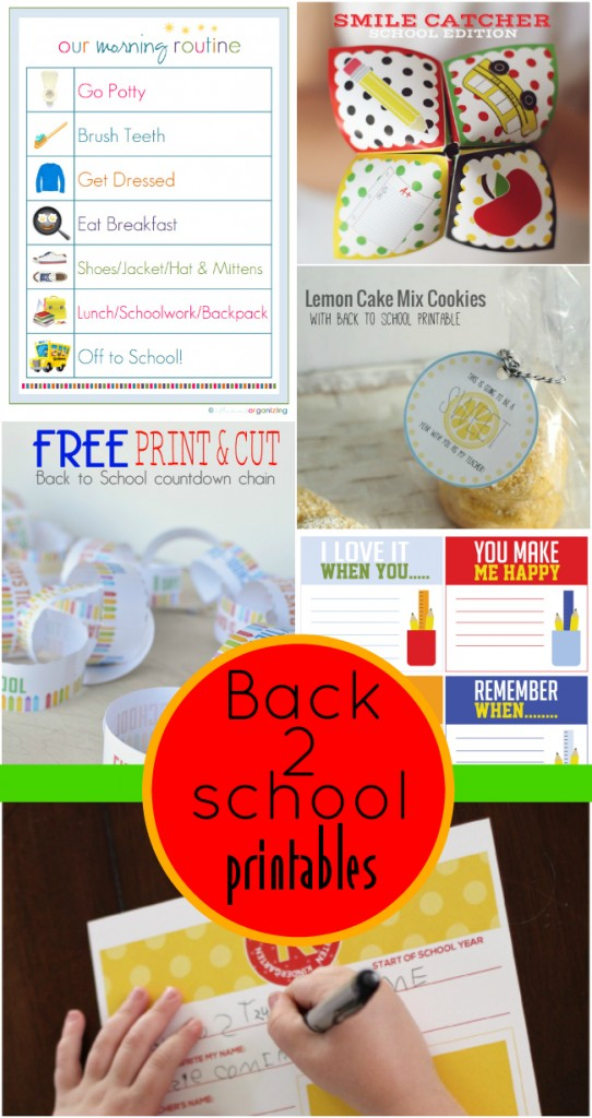 the BEST back to school printable all in one place