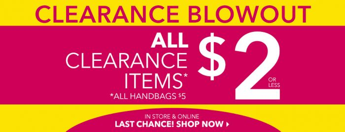 claires clearance blowout