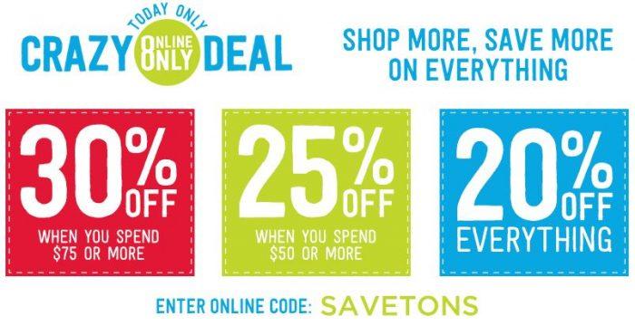 crazy 8 crazy good sale extra 30 off