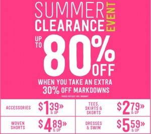 crazy 8 summer clearance