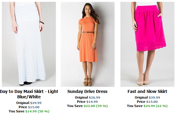 downeast skirts and dresses