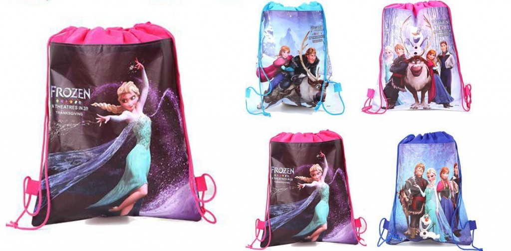 frozen character drawstring bags