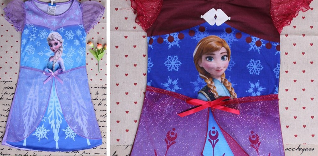 frozen character nightgowns