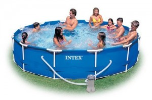 intex smaller pool 300x198 Above Ground Swimming Pool Clearance!!  *Super Hot* Intex 15 x 48 Metal Frame Swimming Pool $159 (Reg $399)