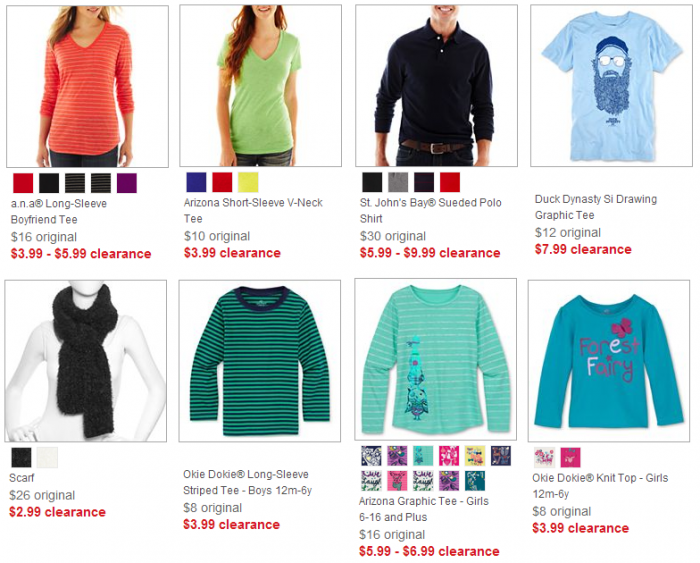 jcpenney clearance clothes