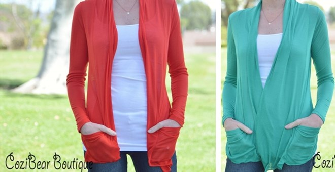 ede5ca43f25564 Lightweight Summer Cardigans for $7.99! Capri Leggings for $3.99 ...