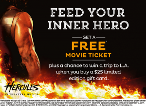 red robin hercules free movie ticket
