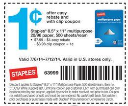 staples paper deal