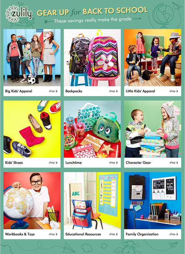 zulily back to school event
