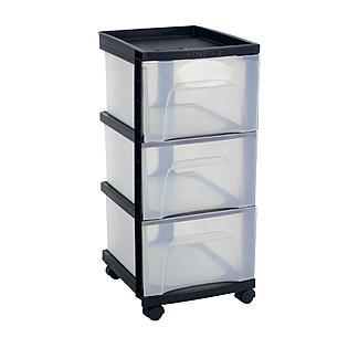 3 drawer cart