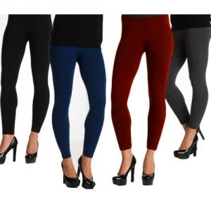 4 pack ladies fleece lined leggings