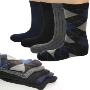 5 Pairs John Weitz Men's Platinum Collection Dress Color Socks