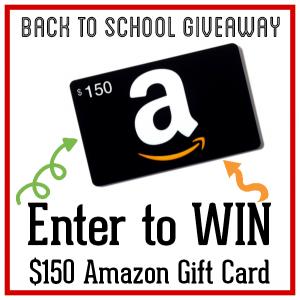 Back to School Amazon Gift Card Giveaway