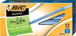 Bic Xtra Life 300x143 BIC Round Stic Xtra Life Ball Pen, 12 Count $0.99 Shipped