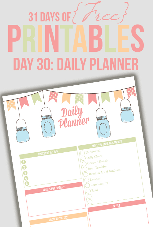 Daily Planner from I heart planners