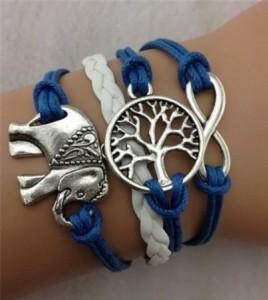 Elephant 268x300 Beautiful Leather Wrap Bracelets starting at $1.93 Shipped!