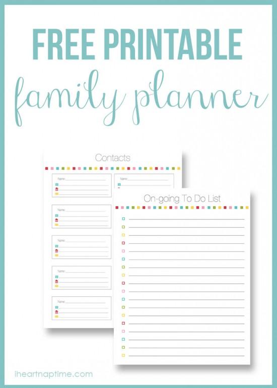 Family Planner from I heart Naptime