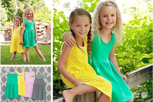 Girls Dresses Girls Sleeveless Tank Cotton Dresses $9.99 (Reg $24.99)