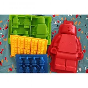 Lego Man or Blocks Style Silicone Ice Cube  Baking Mold